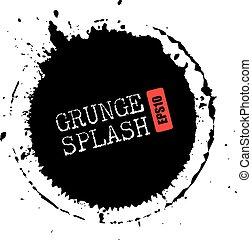 Grunge splash circle