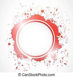 grunge splash circle illustration