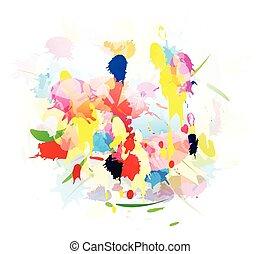 Grunge splashes color background