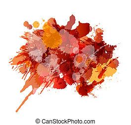 Grunge splashes colorful background