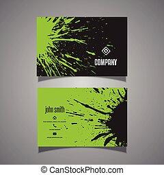 Grunge splatter business card