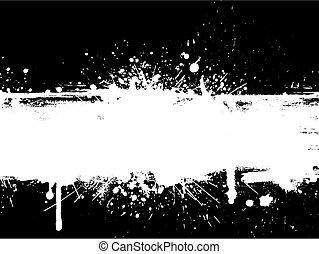 Grunge splatter with drips