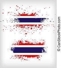 grunge, splattered, thailander dundoek, inkt