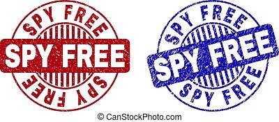 Grunge SPY FREE Textured Round Stamp Seals