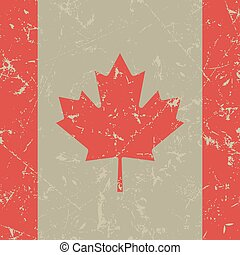 grunge square flag of Canada
