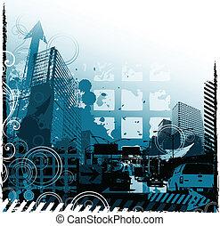 grunge, städtisches design