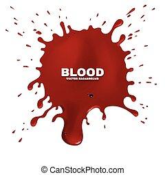grunge, stänka ner, vektor, blod, bakgrund, röd