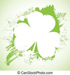 Grunge St. Patrick Day background, vector illustration