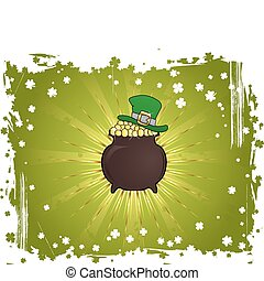 Grunge St. Patrick's Day Background