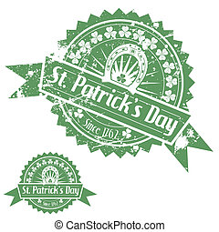 St. Patrick's Day Stamps - Grunge St. Patrick's Day Stamps...