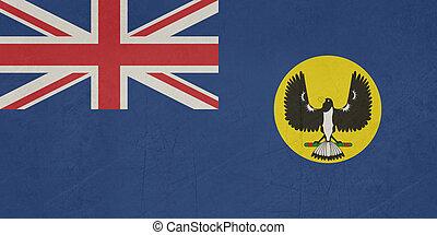 grunge, staat, australië, zuidelijk, vlag