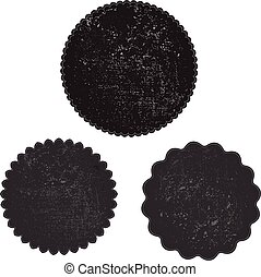 grunge stamp black template vector with textures