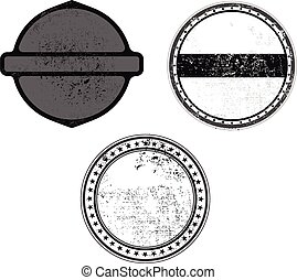 grunge stamp black template with textures