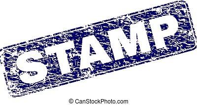 Grunge STAMP Framed Rounded Rectangle Stamp