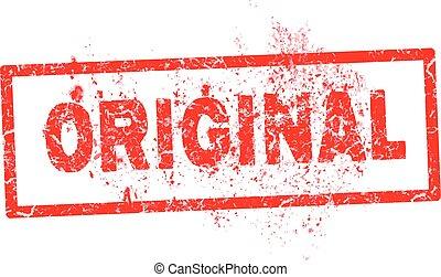 Grunge stamp original red