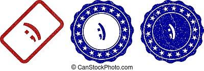 ,) Grunge Stamp Seals