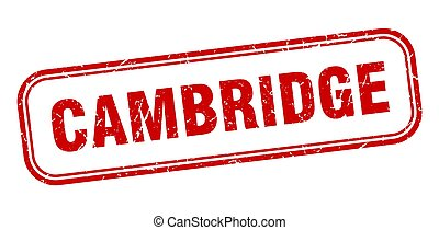 grunge, stamp., sinal, isolado, cambridge, vermelho