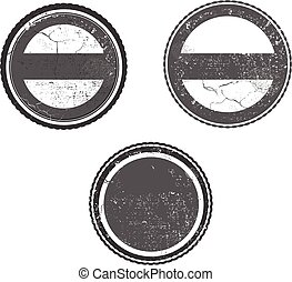 grunge stamp template with textures vector