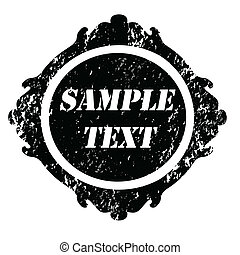 Grunge stamp vintage - Abstract empty grunge rubber stamp...