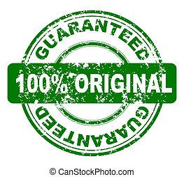 stamp with 100% original