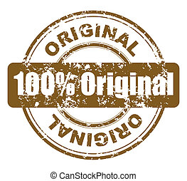 grunge stamp with 100% original