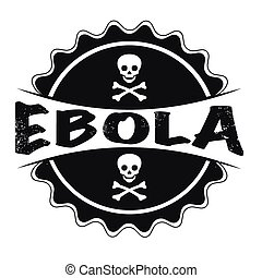 ebola - grunge stamp with text ebola on vector illustration
