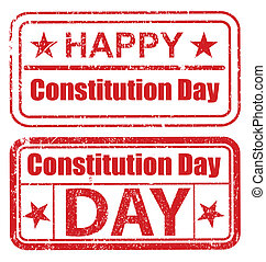 Grunge Stamps - Constitution Day