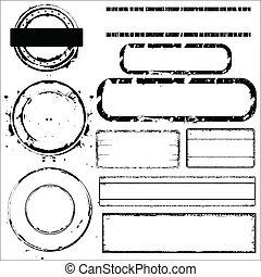 Grunge Stamps Vectors Elements