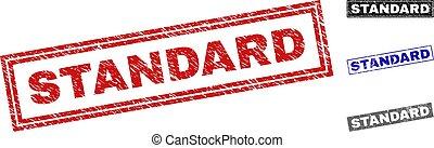Grunge STANDARD Scratched Rectangle Stamp Seals
