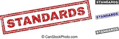 Grunge STANDARDS Scratched Rectangle Stamp Seals