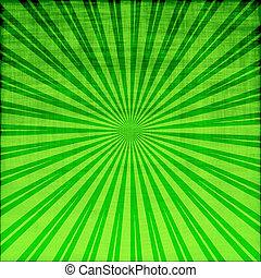 grunge starburst in green
