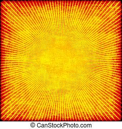 grunge starburst in orange