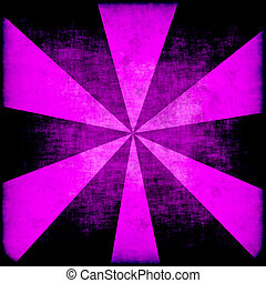 grunge starburst in purple