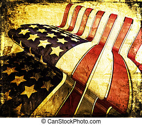 Grunge stars and stripes - Grunge style American flag