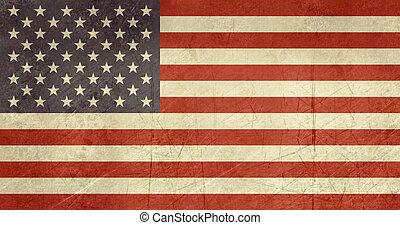 grunge, stati, unito, america, bandiera