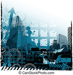 grunge, stedelijk ontwerp