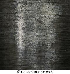 Grunge steel metallic plate - Grunge background or texture ...