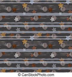grunge, stelle, astratto, zebrato, illustrato, fondo