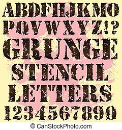 grunge, stencil, irodalomtudomány