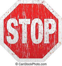 Grunge Stop Sign