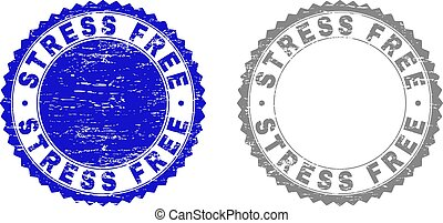 Grunge STRESS FREE Scratched Stamps