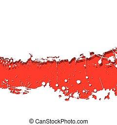 grunge strip background red splat