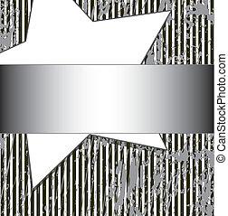 grunge striped background with sta