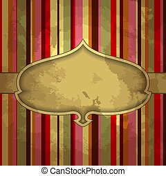 grunge, stripes, bakgrund, med, ornamental, blommig, mall