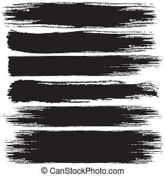 Grunge Strokes - Set of Black Grunge vector banners