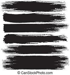 Grunge Strokes - Set of Black Grunge vector banners