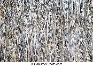 grunge, struktúra, háttér, közül, száraz, fű, felszín, tető kilátás, elzáródik