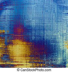 grunge, struktur, maj, vara, använd, som, retro-style, bakgrund., med, olik, färg, patterns:, gul, (beige);, purpur, (violet);, blue;, cyan