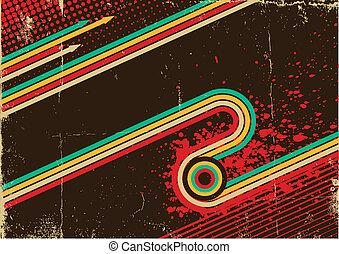 grunge, struktura, abstrakcyjny, retro, stary, tło, afisz