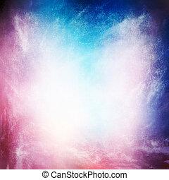 grunge, struttura, fondo, astratto, cielo, e, nebbia, con, uno, viola, t